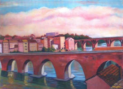 Artist: Perry Snodgrass, Pink Brick of Albi,